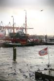 Hamburg Hafen - wind & rain