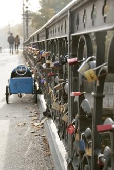 Hamburg Alster - bridge with love lockers