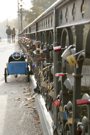 Hamburg Alster - bridge with love lockers