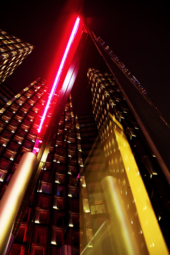 Hamburg City center -Reeperbahn reflection of hotel