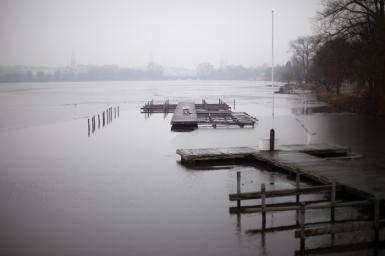 Hamburg Hohenfelde - Alster in winter