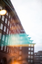 Hamburg city center - reflection of Chilehaus 2