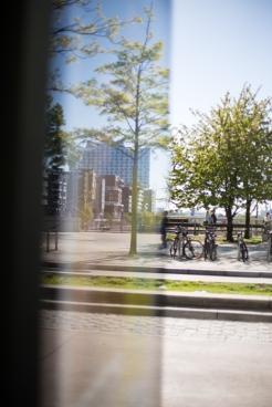 hamburg Hafencity - Refelction of Elbphilharmonie
