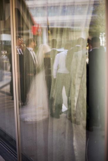 Hamburg city center - Reflection wedding