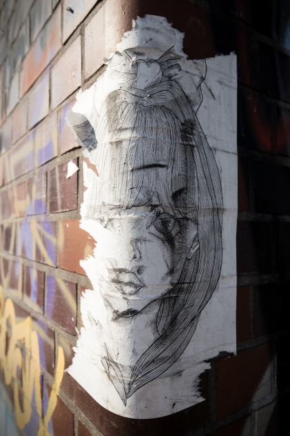 Hamburg street art - girl portrait